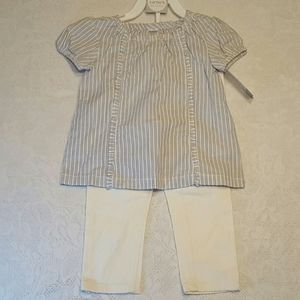 NWT 24 MTH CARTER'S BABY GIRL 2 PIECE LAYETTE